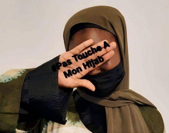 Fransada müsəlman qadınlardan 'hicabıma toxunma' etirazı - Foto