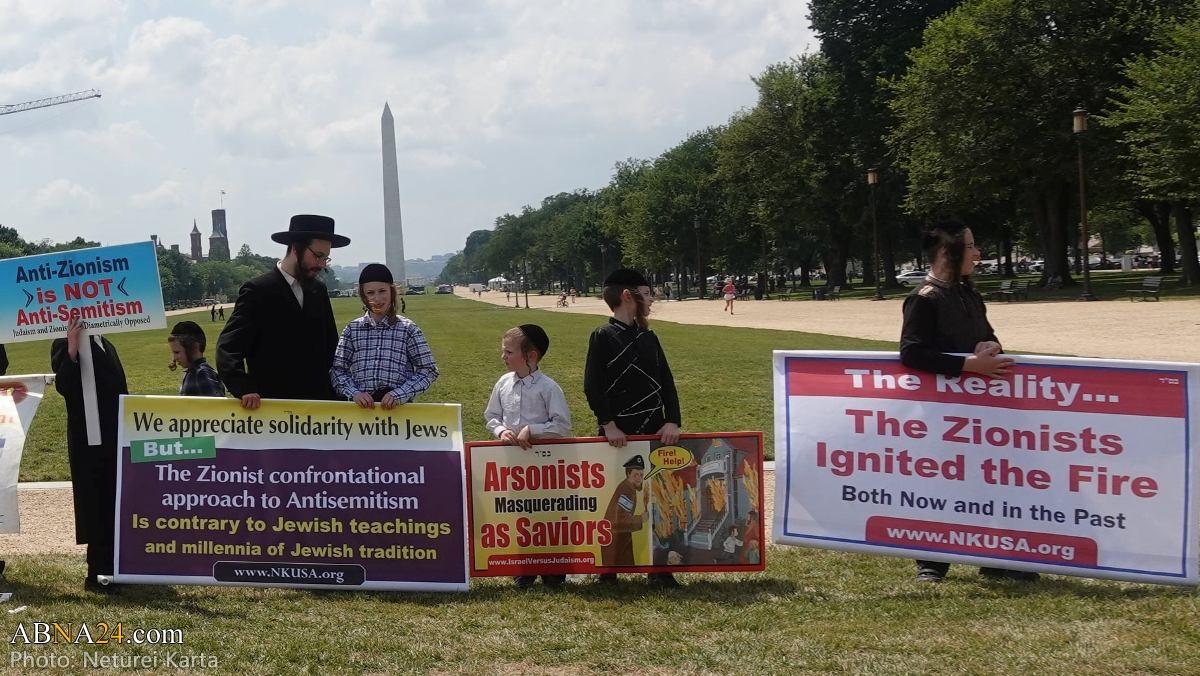 Sionizm əleyhinə olan yəhudilər Konqres binası qarşısında aksiya keçirib- FOTO
