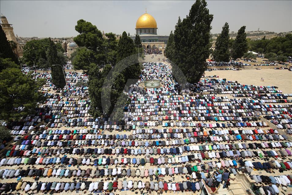 Qüdsdə Mübarək Ramazan ayının ikinci cümə namazı - Foto